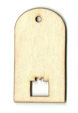 Gift Tag - Laser Cut Wood Shape Tag31 Craft Supply