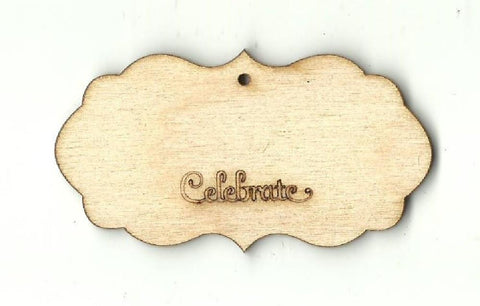 Gift Tag - Laser Cut Wood Shape Tag17 Craft Supply