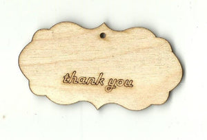 Gift Tag - Laser Cut Wood Shape Tag18 Craft Supply