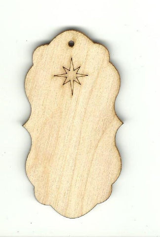 Gift Tag - Laser Cut Wood Shape Tag19 Craft Supply