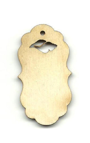 Gift Tag - Laser Cut Wood Shape Tag1 Craft Supply