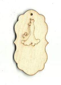 Gift Tag - Laser Cut Wood Shape Tag23 Craft Supply