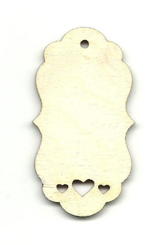 Gift Tag - Laser Cut Wood Shape Tag2 Craft Supply