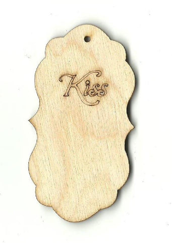 Gift Tag - Laser Cut Wood Shape Tag8 Craft Supply