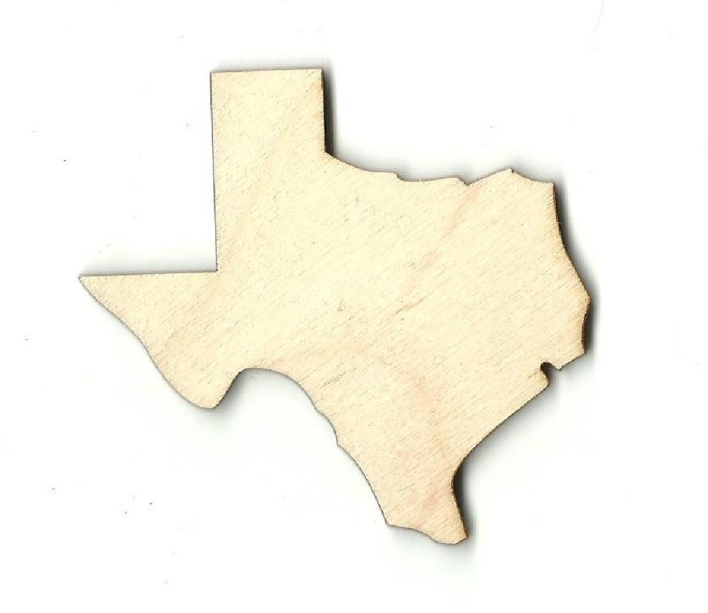 Texas Us State - Laser Cut Wood Shape Craft Supply