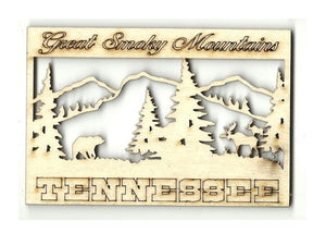 Great Smoky Mountains Tennessee - Laser Cut Wood Shape Tn11 Craft Supply