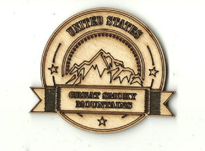 Great Smoky Mountains Sign - Laser Cut Wood Shape Tn14 Craft Supply