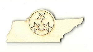 Tennessee - Laser Cut Wood Shape Tn8 Craft Supply