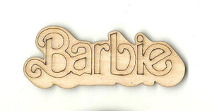 Barbie - Laser Cut Wood Shape Toy27 Craft Supply