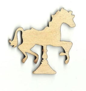 Carousel Horse - Laser Cut Wood Shape Toy26 Craft Supply