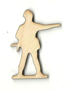 Army Man - Laser Cut Wood Shape Toy38 Craft Supply