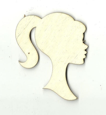 Barbie Bust Silhouette - Laser Cut Wood Shape TOY8