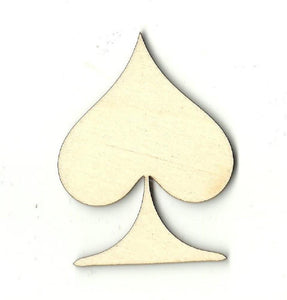 Card Spade - Laser Cut Wood Shape Toy9 Craft Supply
