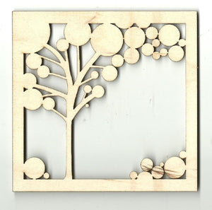 Tree Picture - Laser Cut Wood Shape Tre24 Craft Supply