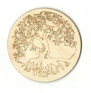 Tree Design - Laser Cut Wood Shape Tre25 Craft Supply