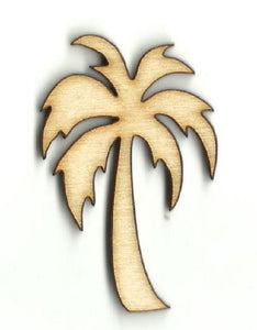Palm Tree - Laser Cut Wood Shape Tre47 Craft Supply