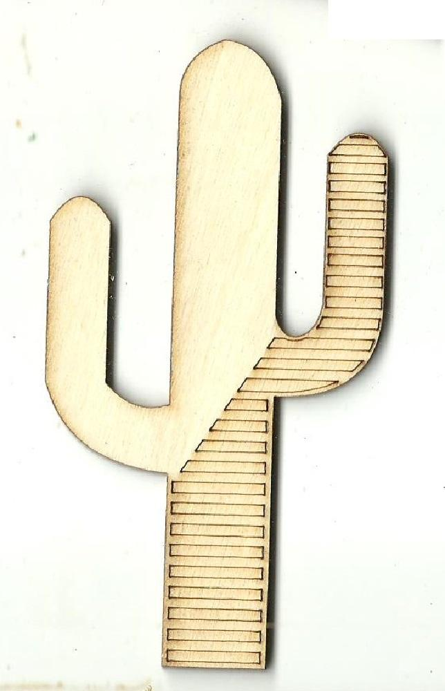 Cactus - Laser Cut Wood Shape Tre93 Craft Supply