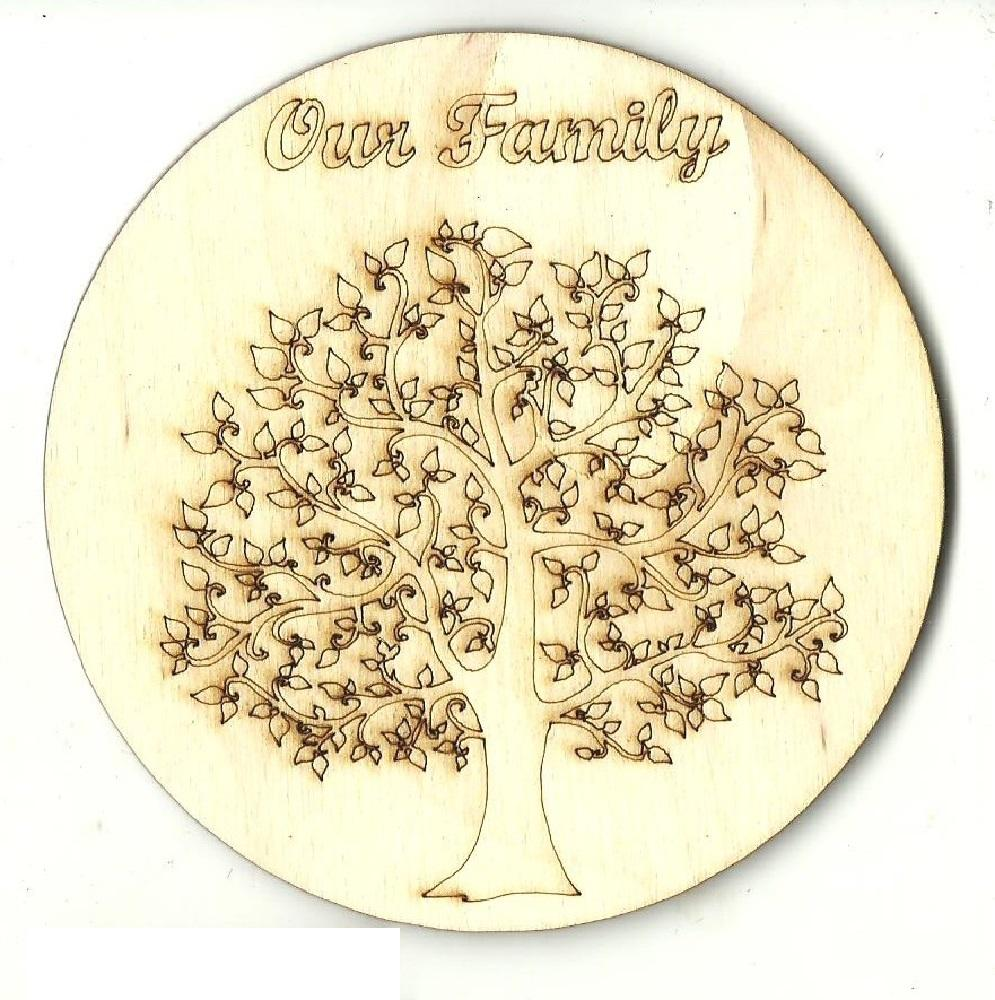 Family Tree - Laser Cut Wood Shape Tre94 Craft Supply