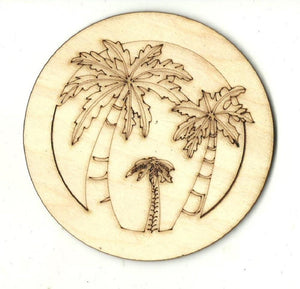 Palm Trees - Laser Cut Wood Shape Tre95 Craft Supply