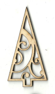 Tree - Laser Cut Wood Shape Tre97 Craft Supply