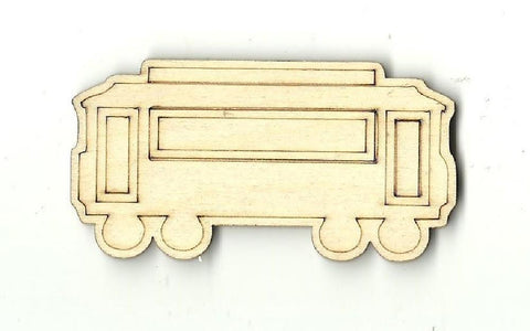 Train Car - Laser Cut Wood Shape Trn2 Craft Supply