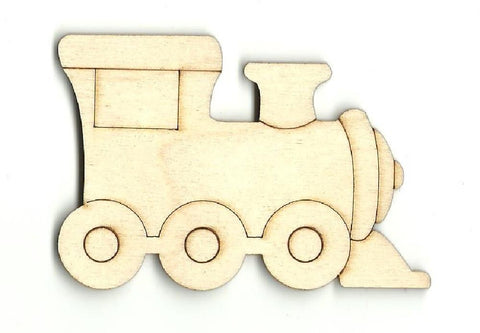 Train Engine - Laser Cut Wood Shape Trn3 Craft Supply