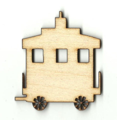 Train Caboose - Laser Cut Wood Shape Trn16 Craft Supply