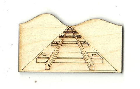 Train Track - Laser Cut Wood Shape Trn8 Craft Supply