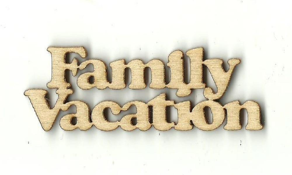 Family Vacation - Laser Cut Wood Shape Trp18 Craft Supply