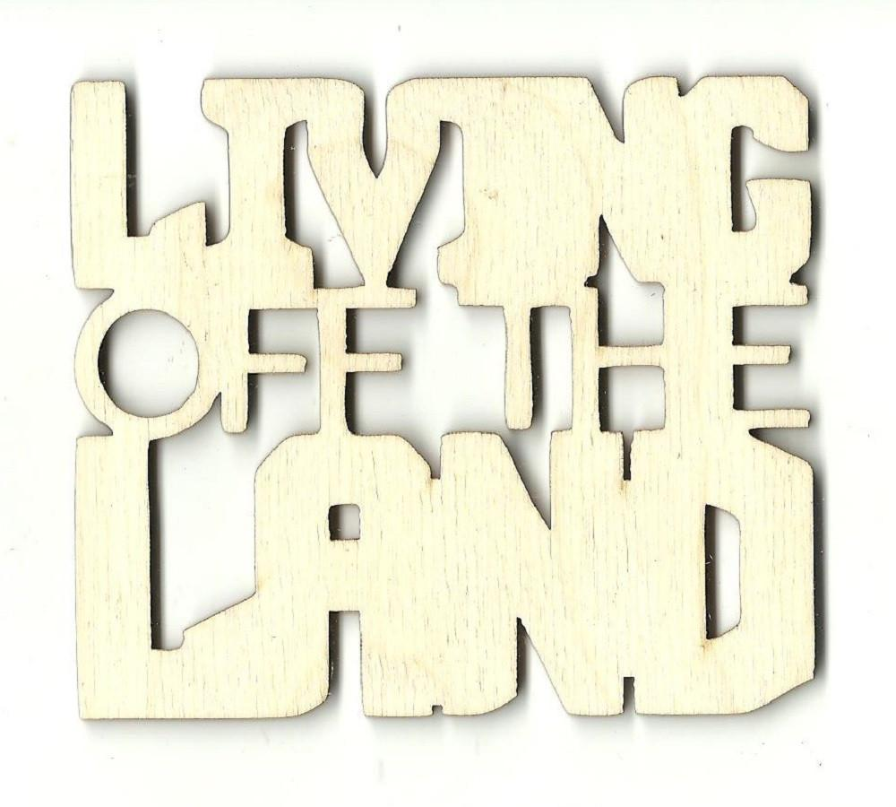 Living Off The Land - Laser Cut Wood Shape Trp21 Craft Supply