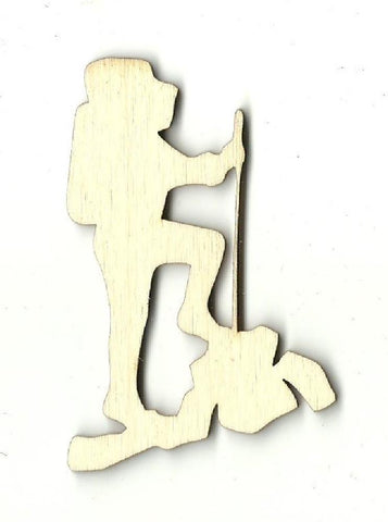 Backpacker - Laser Cut Wood Shape Trp45 Craft Supply