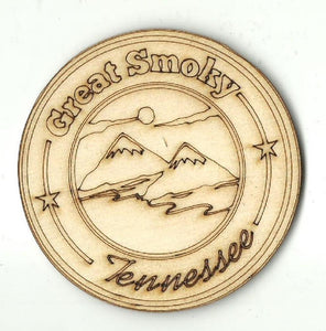 Great Smoky Mountains Sign - Laser Cut Wood Shape Trp50 Craft Supply