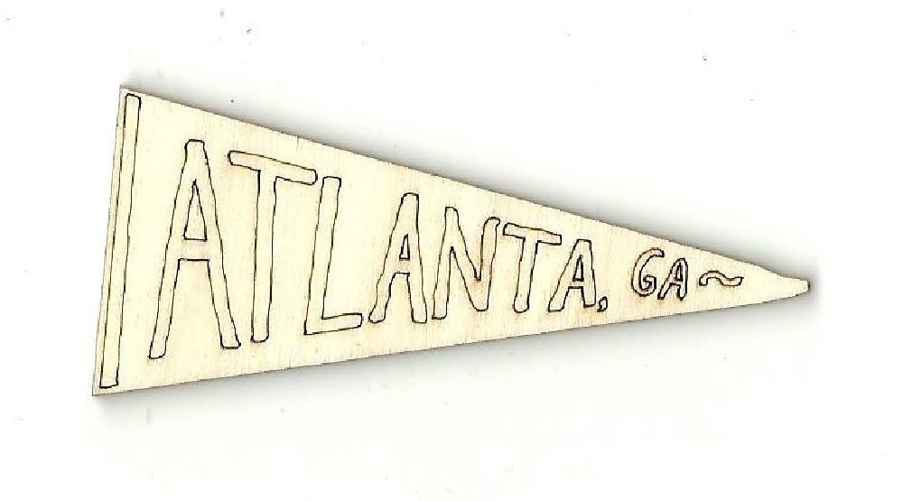Atlanta Flag - Laser Cut Wood Shape Usa1 Craft Supply