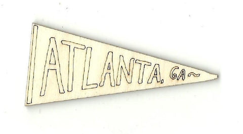 Atlanta Flag - Laser Cut Wood Shape USA1