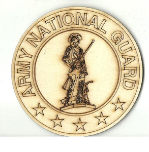 Army National Guard - Laser Cut Wood Shape Usa35 Craft Supply