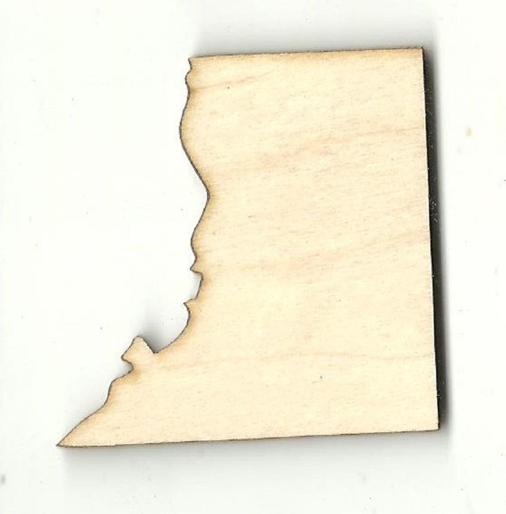 Washington Dc - Laser Cut Wood Shape Usa39 Craft Supply