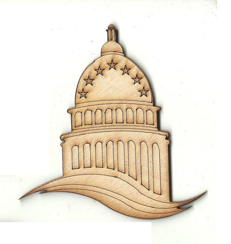Capitol Building - Laser Cut Wood Shape USA43