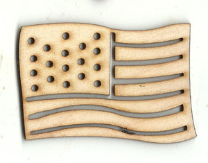 American Flag - Laser Cut Wood Shape USA44