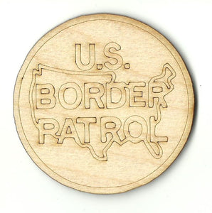 Border Patrol - Laser Cut Wood Shape USA45