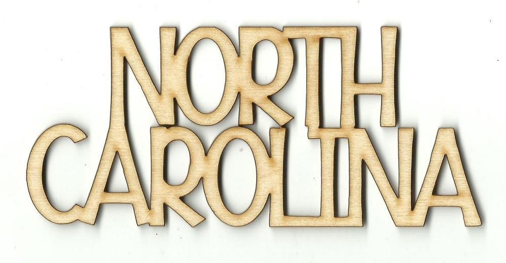 North Carolina - Laser Cut Wood Shape Usa21 Craft Supply