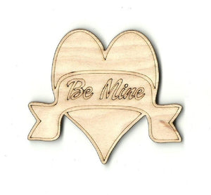 Be Mine Heart - Laser Cut Wood Shape Val24 Craft Supply