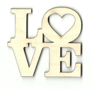 Love - Laser Cut Wood Shape Val5 Craft Supply