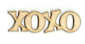 Xoxo - Laser Cut Wood Shape Val27 Craft Supply