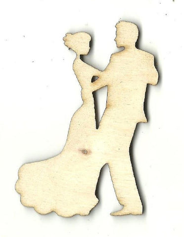 Dancing Couple - Laser Cut Wood Shape Wdg24 Craft Supply