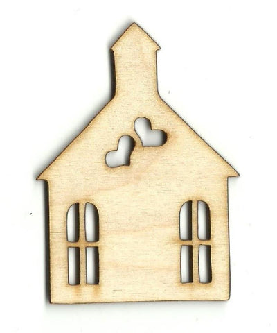 Church - Laser Cut Wood Shape Wdg16 Craft Supply