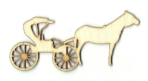 Amish Buggy & Horse - Laser Cut Wood Shape WGN9