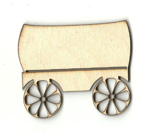 Covered Wagon - Laser Cut Wood Shape Wgn1 Craft Supply