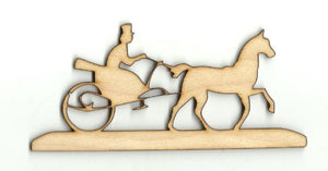 Victorian Carriage & Horse - Laser Cut Wood Shape Wgn8 Craft Supply