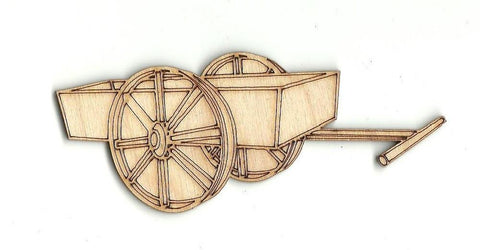 Laser Cut Out Unfinished Wood Shape Craft Supply WGN2 Wood Cart