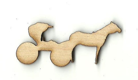 Amish Buggy & Horse - Laser Cut Wood Shape WGN5